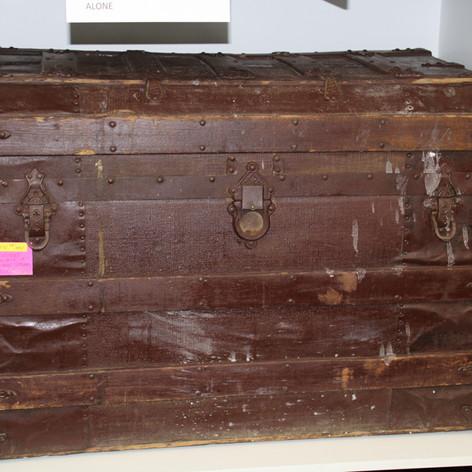 Antique Ornate Steam Trunk