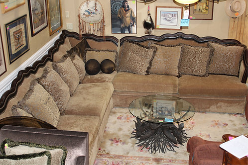 Rachlin Furniture Corner Sectional W/ pillows Shown