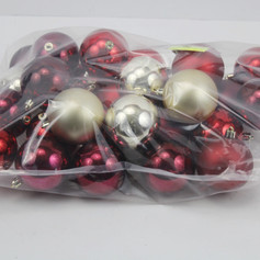 Red & Gold Shatter Proof Ornaments