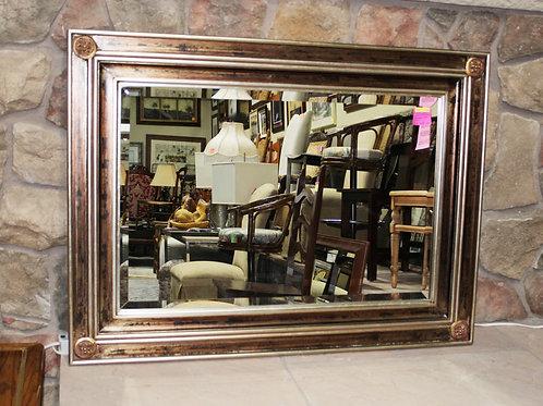 Gold / Black Beveled Framed Mirror