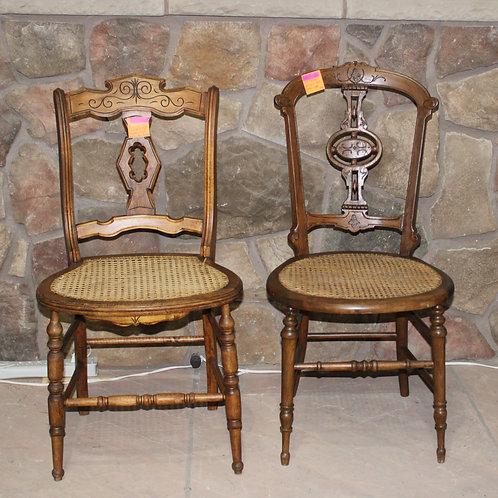 18th Century Eastlake Cane Bottom Chairs