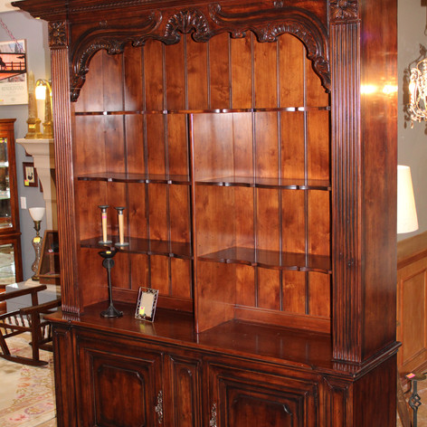 Two Piece Library Bookcase