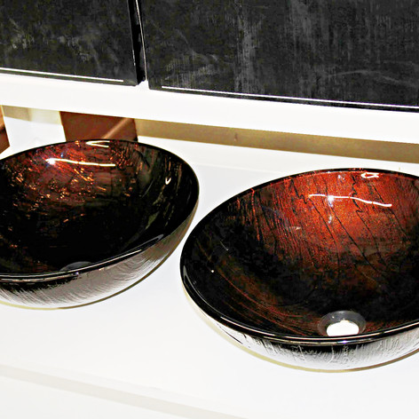 New Vigo Glass Vessel Sink Model VG07029 (2 Available)