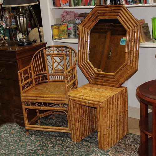 3PC Bamboo Settee