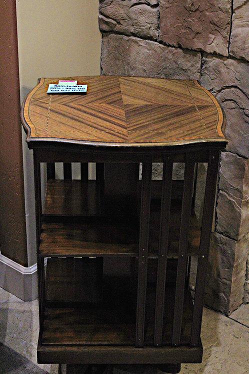 Antique Mission Revolving Bookcase/Spice Rack