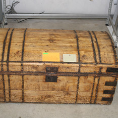 Hand Crafted Circa 1700-1800 Pine Immigrant Trunk