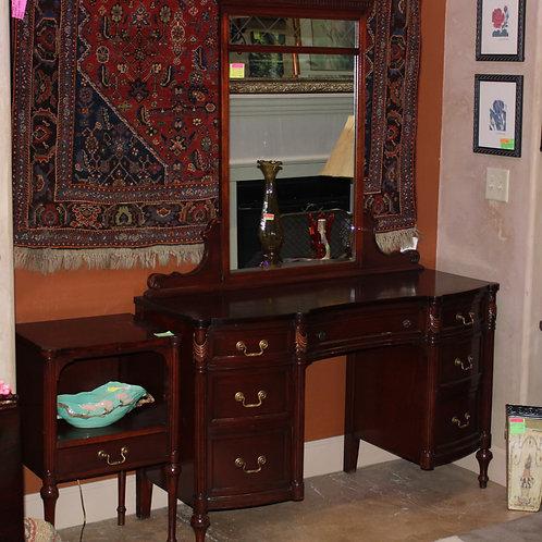 Antique Dresser Vanity W/Mirror and Matching Nightstand