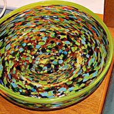 """Confetti Glass Center Piece 14"""""""