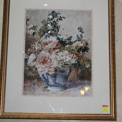 Apple Blossoms With Peonies by Francois Rivoire