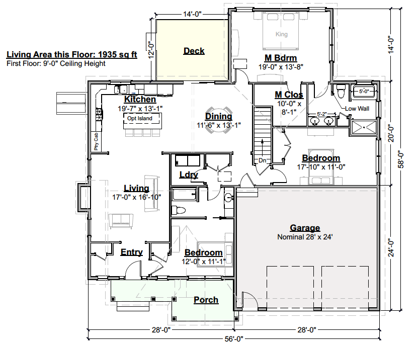 Raspberry Crisp Tweener Floor Plan