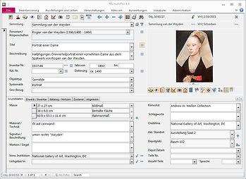 Screenshot Museum+ Software