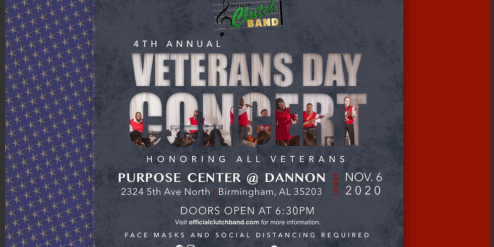 4th Annual Official Clutch Band Veterans Day Concert