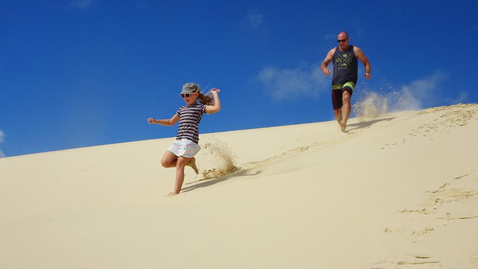 Sand Tobogganing at the Desert