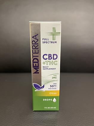 MEDTERRA CBD+THC Drops