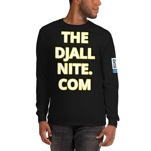 THEDJAllnite.Com Long Sleeve T-Shirt w/QR Code