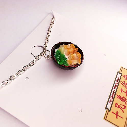 Necklace  in HK Roast pork with rice design (miniature)