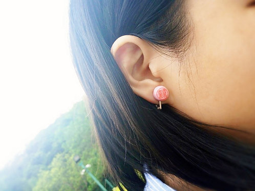 Ear rings in bride cake design十兄弟喜餅耳環/耳夾