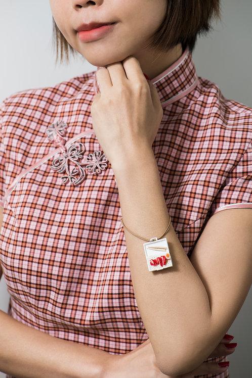 十兄弟叉燒飯吊飾 Accessories in rice with chinese bbq pork design