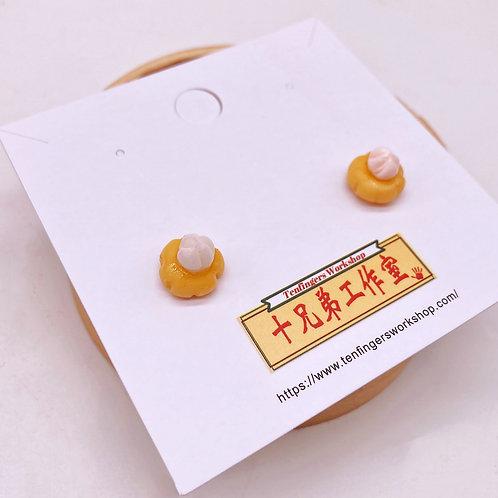 十兄弟肚臍餅耳環/耳夾 Ear rings in Navel cake design