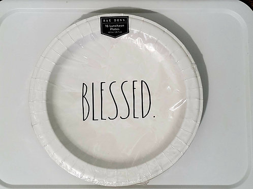 Rae Dunn 16 BLESSED Luncheon Plates