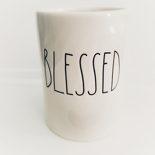 Rae Dunn BLESSED Candle in Ceramic