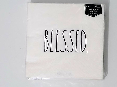 Rae Dunn 40 BLESSED Luncheon Napkins, 3 ply