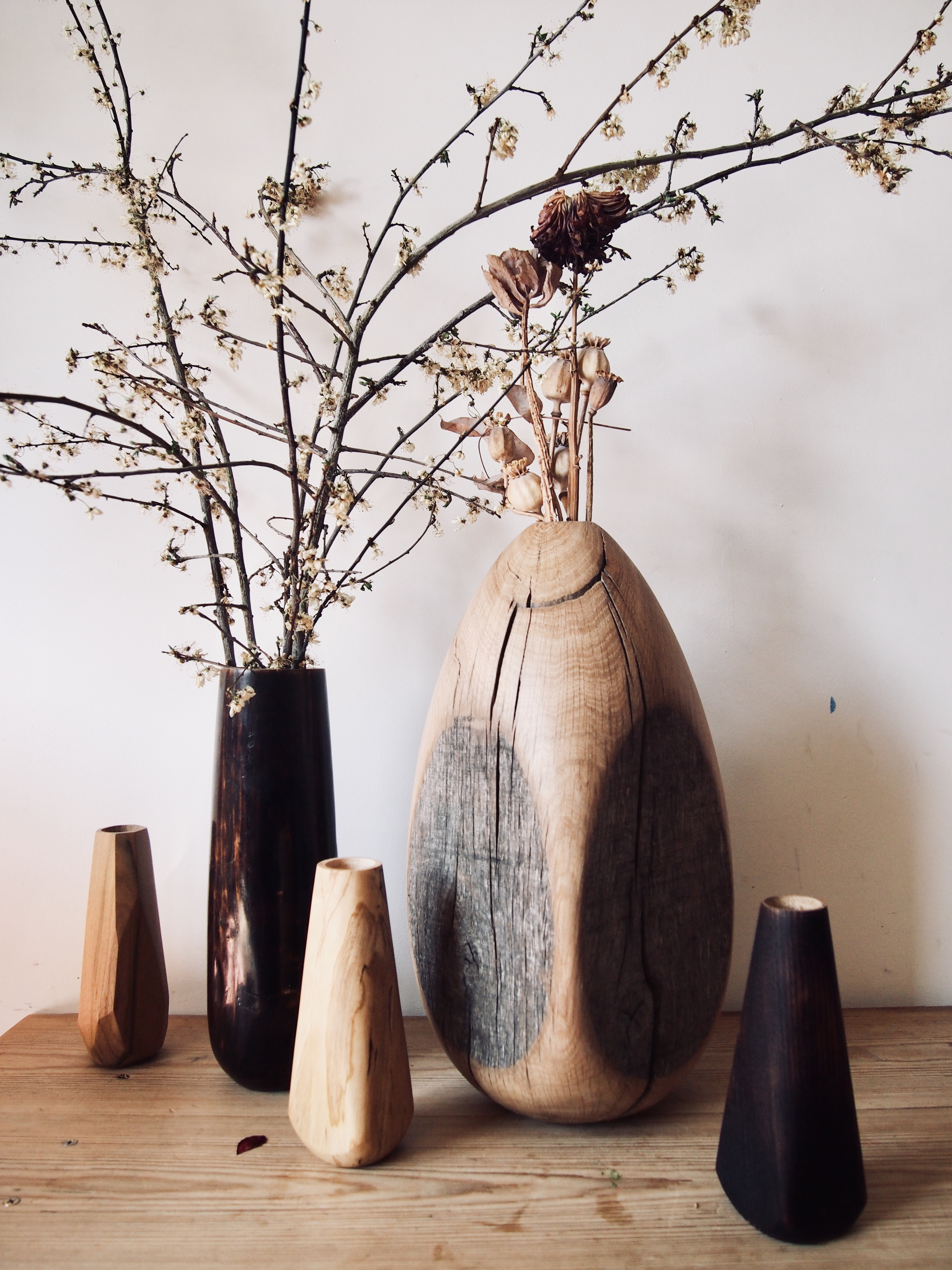 Cracked egg vase made by Woodworker Jami