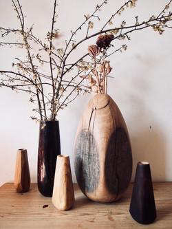 Cracked egg vase made by Woodworker Jami