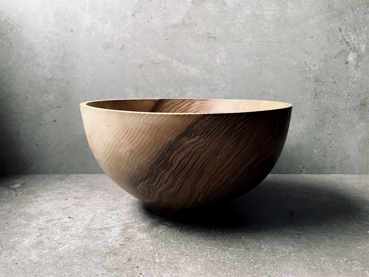 Hand carved bowl in ash