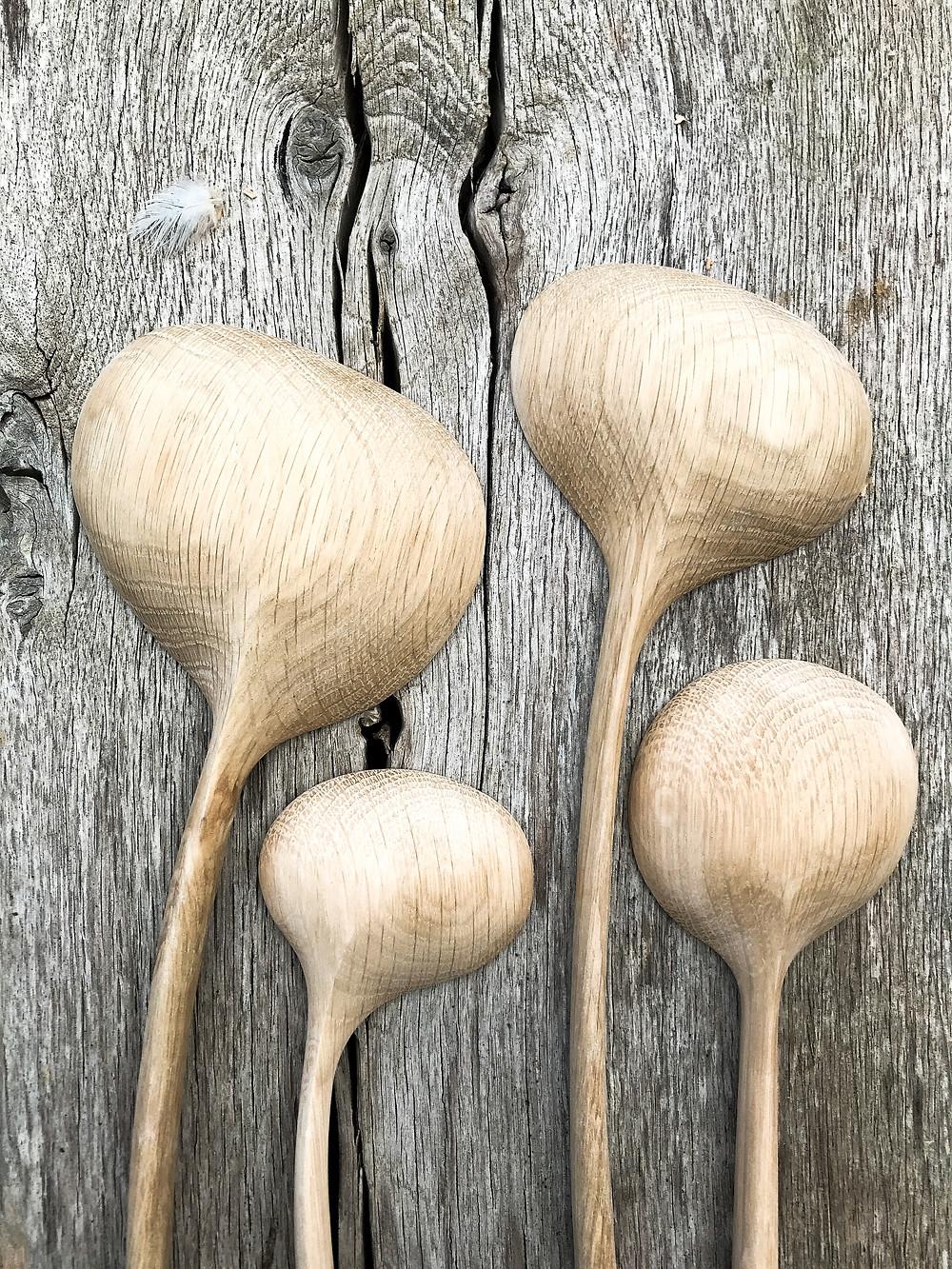 hand carved spoon by UK wood worker Jamie Gaunt