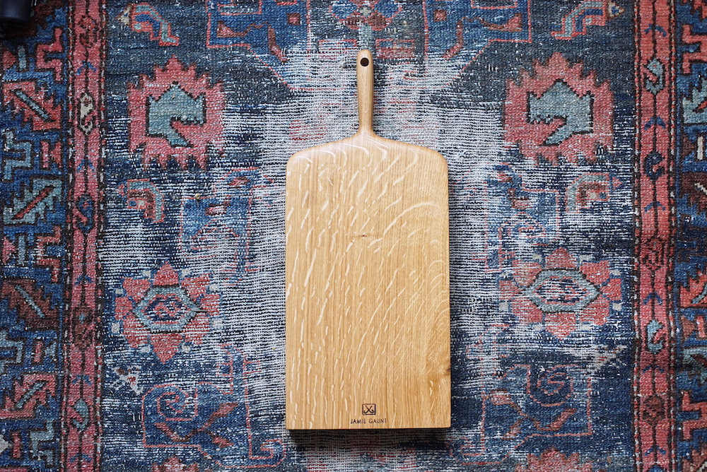 Oak chopping boards crafted and carved in the UK by wood worker Jamie Gaunt
