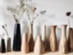 Hand carved vase woodworker Jamie Gaunt UK