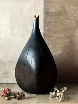 Ebonised Oak vase, crafted by Kent based