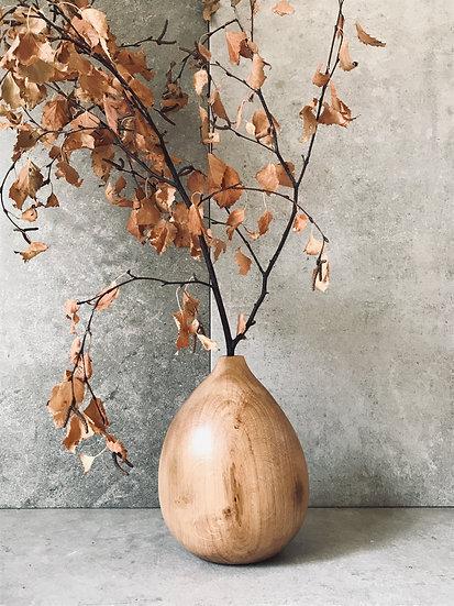 Round Oak Vase