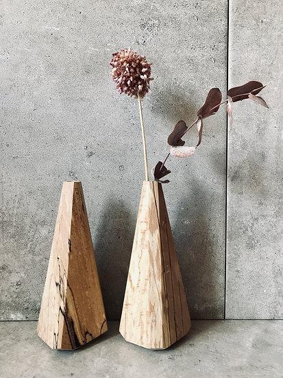 Spalted beech bud vase - standard
