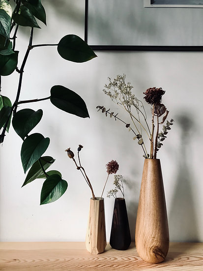Large oak vase