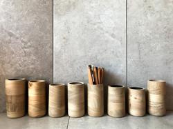 Oak pot made by UK designer and wood wor