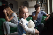 Frustrated little girl upset tired of pa