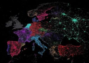 Languages used in tweets across Europe