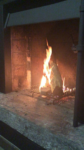 We've  Lit the Fire in the Snug for the first time!
