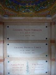 Grave Pagani's Grave Plate