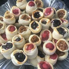 Hand Laminated Vol-au-Vent Puff Pastries - Raspberry, Blueberry & Apple Pie!