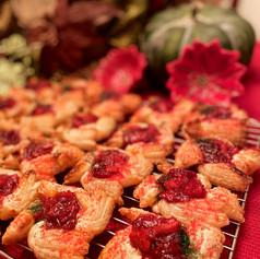 Cranberry Cream Cheese Poinsetta Danish