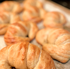 Fresh out of the oven Hand Laminated Croissants - great with butter or jam!