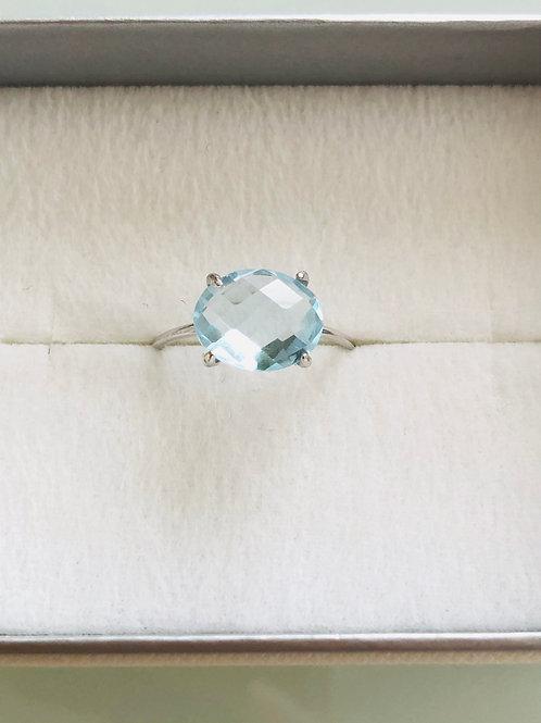 宝石質ブルートパーズの13号リング