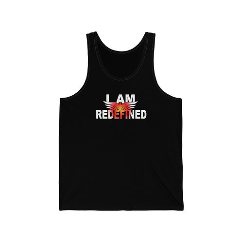 """""""I AM REDEFINED"""" Unisex Jersey Tank"""