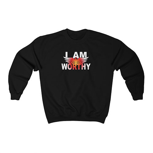 """I AM WORTHY"" Unisex Crewneck Sweatshirt"