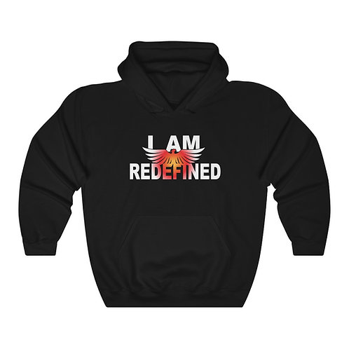 """"""" I AM REDEFINED"""" Unisex Hooded Sweatshirt"""