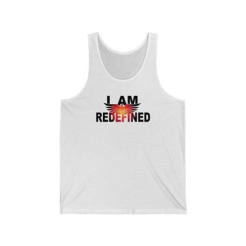 """""""I AM REDEFIINED"""" Unisex Jersey Tank"""
