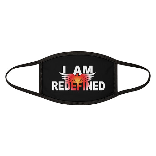 """""""I AM REDEFINED"""" Mixed-Fabric Face Mask"""